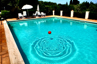 Ball in a pool. Sicily.